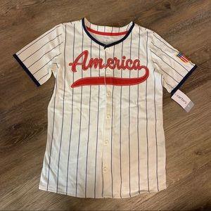 Boys' Americana Baseball Jersey Shirt